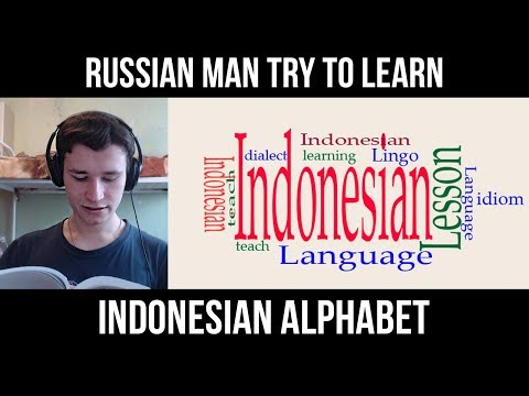 RUSSIAN MAN TRY TO LEARN INDONESIAN ALPHABET | LETTERS | TRANSCRIPTION | REVIEW
