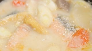 Salmon Kasujiru (Sake Lees Soup Recipe)   Cooking with Dog