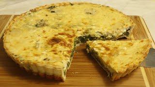 ისპანახისა და ყველის ტარტი,პიცა,ქვიჩი