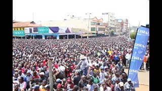 Eldoret town comes to a standstill as a mammoth crowd cheers on