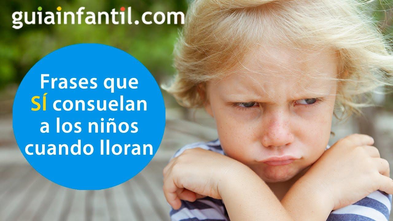 Las frases que SÍ consuelan a los niños cuando lloran o se enfadan y lo que nunca debemos decirles