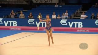 Neviana VLADINOVA (BUL) 2015 Rhythmic Worlds Stuttgart - Qualifications Clubs