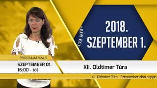 Programajánló / TV Szentendre / 2018.08.30.