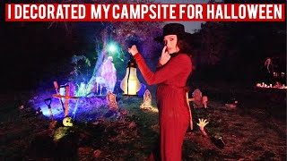 I DECORATED MY CAMPSITE FOR HALLOWEEN!!! by Channon Rose