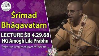 Srimad Bhagavatam(4.29.68) By HG Amogh Leela Prabhu On 16th June 2018.