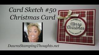 Card Sketch #50 Christmas Card
