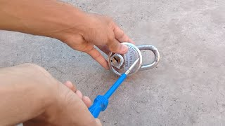 How to open a lock with a screwdriver