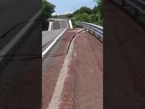 La carretera México-Cuernavaca también dañada