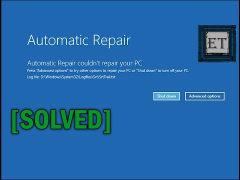 How to Fix Automatic Repair Loop in Windows 10 - Startup Repair Couldn't Repair Your PC