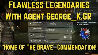 The Division Legendary Flawless With Agent George_K.GR (Home Of The Brave Commendation)!