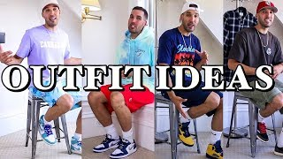 STREETWEAR OUTFIT IDEAS - 7 CASUAL OUTFITS WITH SNEAKERS FOR GUYS - NIKE - JORDANS - ADIDAS - KITH