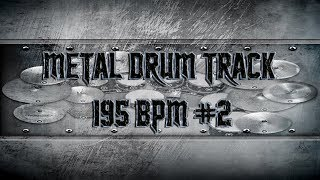 Thrash Metal Drum Track 195 BPM | Remix (HQ,HD)