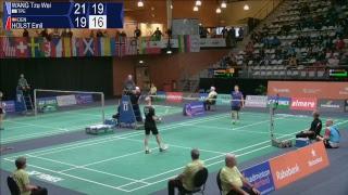 Wang Tzu Wei vs Emil Holst (MS, QF) - Yonex Dutch Open 2017 | Kholo.pk