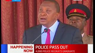 Four thousand recruits are set to graduate from the Kenya Police training college in Kiganjo today.