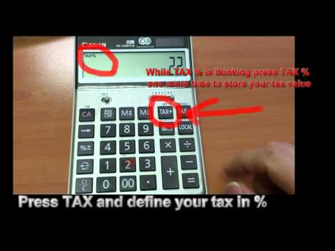How to use TAX function on calculator