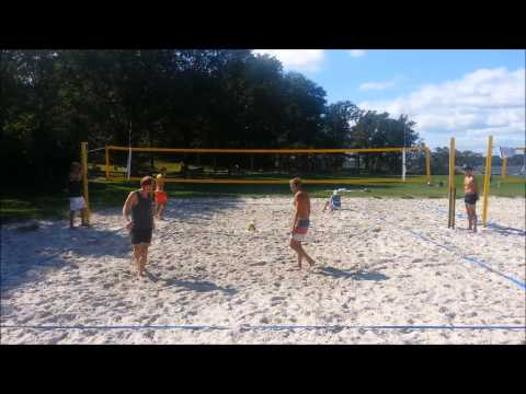 Open final beachvolleyboll Långö