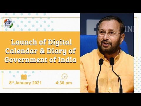 Launch of Digital Calendar & Diary of Government of India