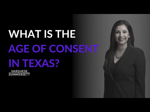 Law in texas on dating age