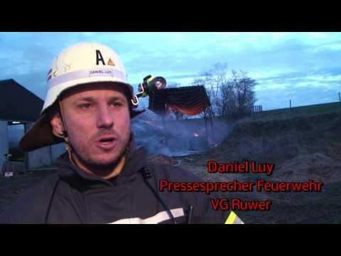 Großbrand auf einem Bauernhof in Franzenheim