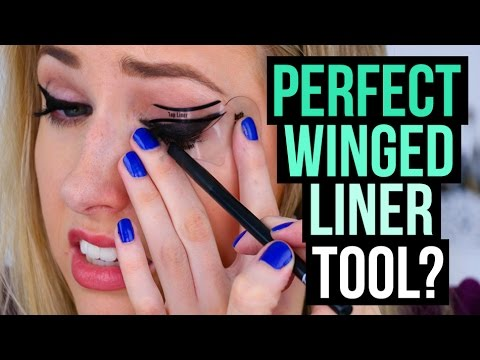 Perfect WINGED LINER... With STENCILS!? || DOES IT WORK!?