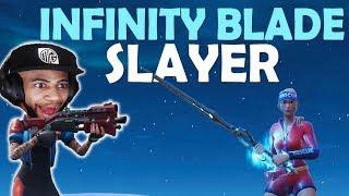 KILLING INFINITY BLADE PLAYERS | TAC SHOTGUN IS OP! | HIGH KILL FUNNY GAME- (Fortnite Battle Royale)