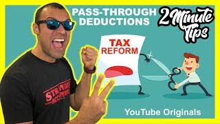 2 Minute Tax Tip 20% Pass Through Tax Deduction Tax Reform | S-Corp Sole-Prop Real-Estate Businesses