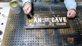 Making A Motorcycle Theme Man Cave Sign
