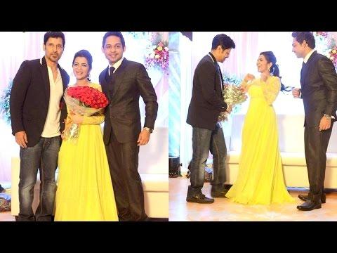 Vikram at Vijay TV Anchor DD Dhivya Dharshini and Srikanth Wedding Reception