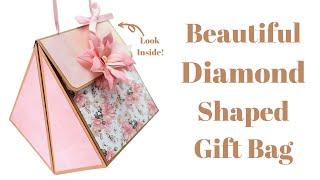 Unusual Diamond Shaped Gift Bag