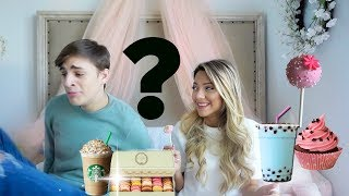 "My bf taste tests ""Girly Drinks and Treats"""