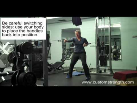 Ab exercise: Cable Push-Pull