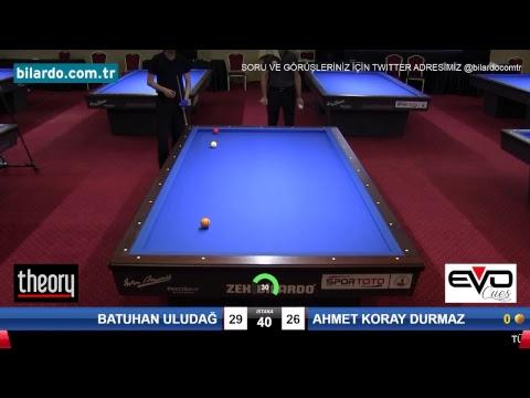 BATUHAN ULUDAĞ & AHMET KORAY DURMAZ Bilardo Maçı - 2018 GENÇLER 1.ETAP-Yarı Final