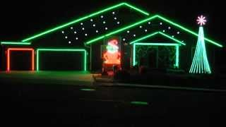 You're a Mean on Mr Grinch - Jim Carrey - Flagstaff Christmas Light show 2014