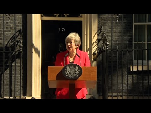 Theresa May announced Friday that she will step down as U.K. Conservative Party leader on June 7, sparking a contest to become Britain's next prime minister. She'll stay as prime minsiter until a new party leader is chosen. (May 24)
