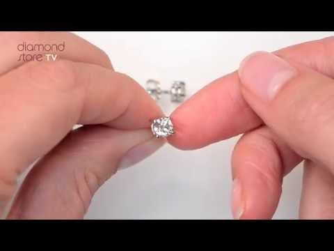 White Gold 1ct Classic Diamond Stud Earrings - FG23