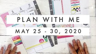 Classic Happy Planner Bullet Journal Plan with Me // Happy Quotes Sticker Book May 25 - 30, 2020