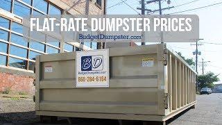roll off dumpster on a street