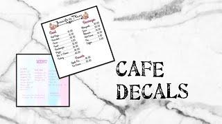 roblox bloxburg decal id cafe menu - TH-Clip