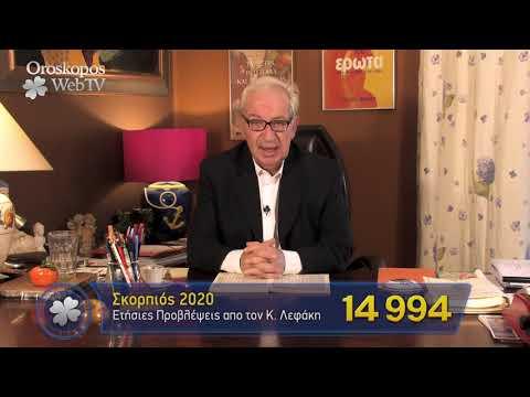 Σκορπιός 2020 Ετήσιες Προβλέψεις Κώστα Λεφάκη σε βίντεο