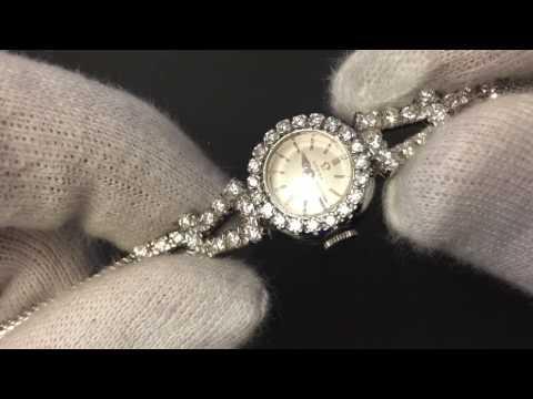 Omega Cocktail Watch   Diamonds   Diamanten   Gold Uhr   Damenuhr   from 1959   Calibre 483