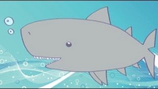 Cómo dibujar un tiburon. Dibujos infantiles