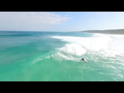 Pumping swell at Injidup filmed by drone
