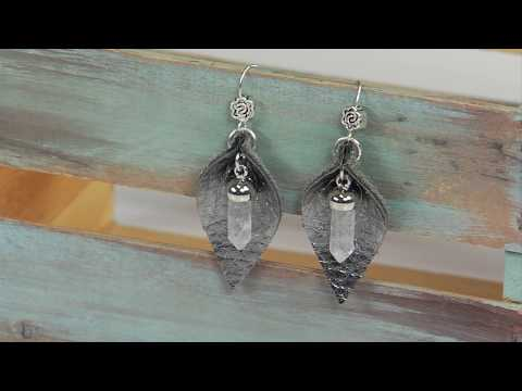 Sizzix Jewelry: Quick Crystal Earrings