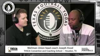 Texas Football Today at THSCA: Wellman Union head coach Joseph Hood