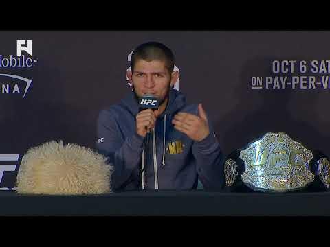UFC 229 – Post Presser – Khabib Nurmagomedov