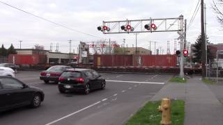 BNSF trash train going backwards in Seattle, WA. Part 2.