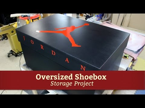 Giant Air Jordan Shoe Storage Box Project by Glass Impressions
