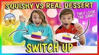Squishy vs. Real Dessert Challenge