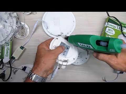 Uso silicona caliente en trabajos de electricidad 1/5 muelles de focos empotrados