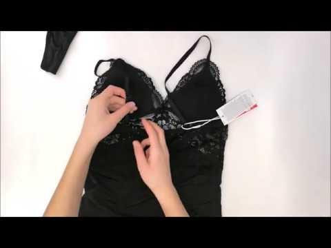 Košilka 810-CHE black chemise - Obsessive